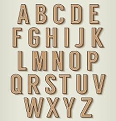 Vintage style alphabets set vector