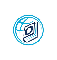 World education letter o vector