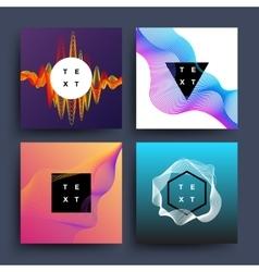 Music album graphic color wave motion vector