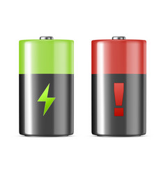 Realistic alkaline charging batteries icon vector