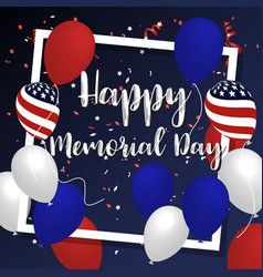 Happy memorial day background banner design vector