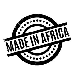 Made in africa rubber stamp vector