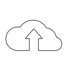 Cloud with upload arrow icon vector