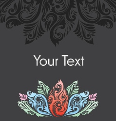 Ornamental lotus flower vector