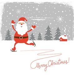Santa skate vector image