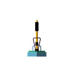Isolated equipment flat icon broom element vector