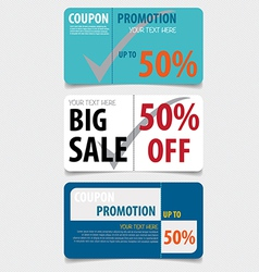 Sale coupon voucher tag template design vector