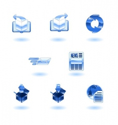 internet browser icons vector image
