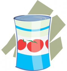 Tomato can vector