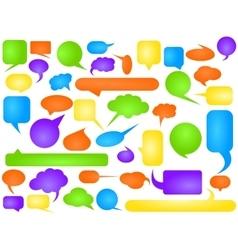 Talking bubbles vector image