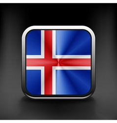 Iceland icon flag national travel icon country vector