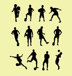 Football player silhouettes vector
