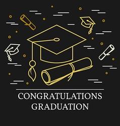 Congratulations graduation greeting card For web vector image