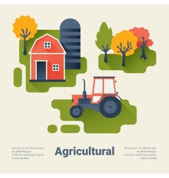 Agricultural Industry Concept vector image vector image