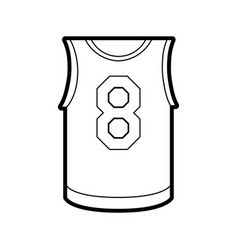 basketball uniform shirt design vector image