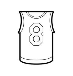 basketball uniform shirt design vector image vector image