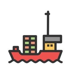 Cargo ship ii vector
