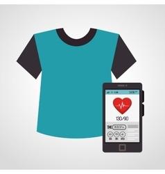 Cartoon tshirt smartphone sport elements design vector