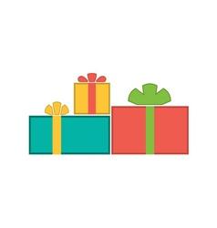 Christmas gifts flat vector image vector image