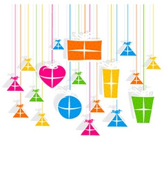 creative colorful gift box pattern vector image