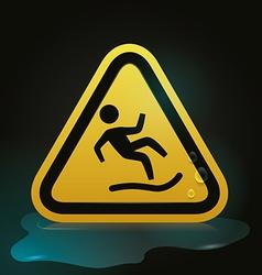 Danger advert design vector image