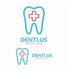 Dental logo design template vector image vector image