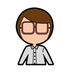 Female nerd avatar character vector