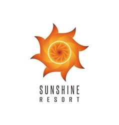 Gradient sun logo resort mockup abstract creative vector