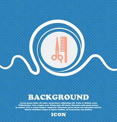Hair sign icon blue and white abstract background vector