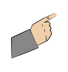 Hand man gesture design vector