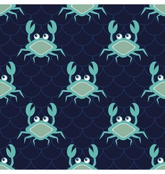 Happy crabs pattern vector image vector image