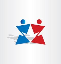 letter z people arrow vector image