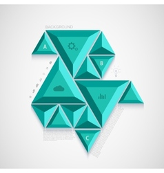 modern triangle infographic design vector image