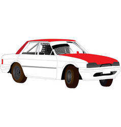 Modified speedway speedway car vector