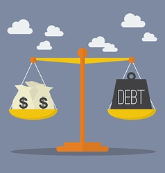 Money and debt balance on the scale vector