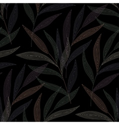 needlework tropic black vector image vector image