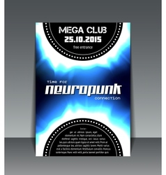 neuropunk party flyer vector image vector image