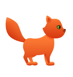 red cat cute cartoon character vector image