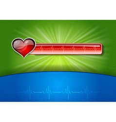 red medical symbol on the background vector image