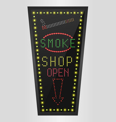 shining retro light banner smoke shopping vector image