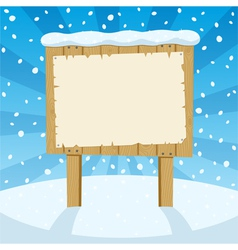 sign and snow vector image vector image