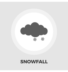 Snow icon flat vector image