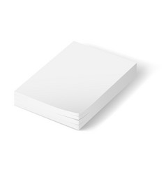 stack of blank paper on white background vector image