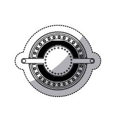 Sticker of stamp circular art deco emblem vector