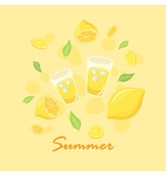Summer Lemon Lemonade vector image