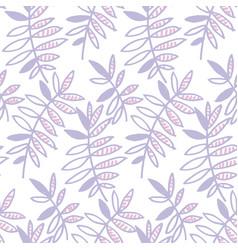 Tender violet floral motif vector