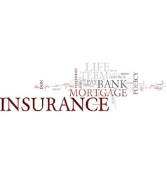 Term life insurance text background word cloud vector