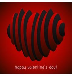 Valentines greeting - spatial harmonica hearts vector