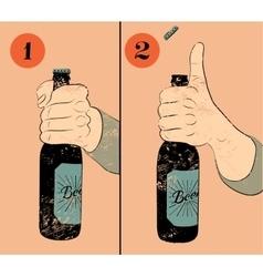Vintage grunge style beer poster vector image vector image