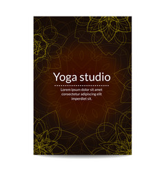 Yoga studio banner with ethnic floral mandalas vector